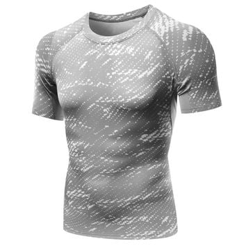 Mens Compression Under Base Layer Fitness T-Shirt