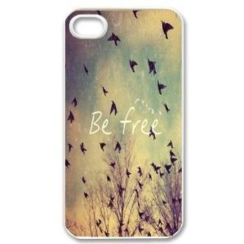 Free Birds Cute Quote Retro Vintage for Apple Iphone 5c Cell Phone Case White + Free Wristband Accessory