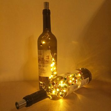 30pcs Bell LED String Light Warm White Wine Bottle Cork String Light Colorful Bell Christmas Wedding Party Decoration