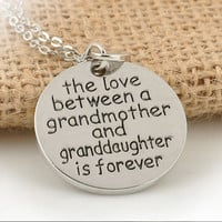 A Grandmothers Love Necklace-Preteen Necklace-Girls Necklace-Teen Jewelry