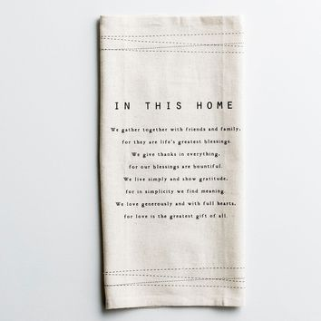 In This Home - Cotton/Linen Napkins, Set of 4