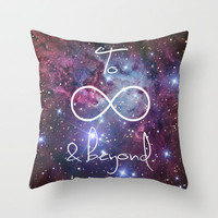 To Infinity and Beyond Galaxy Nebula Throw Pillow by RexLambo | Society6