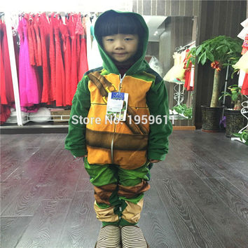 Teenage Mutant Ninja Turtles Kids Anime Onesuit Cosplay Pajamas Costumes Jumpsuits Costumes New Years Gifts