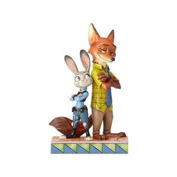 Disney Traditions Zootopia Judy and Nick by Jim Shore