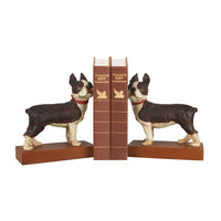 93-0797 Pair Boston Terrier Bookends