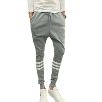 Gray Harem sweatpants with drop crotch