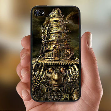 Steampunk Design  - Photo Print for iPhone 4/4s Case or iPhone 5 Case - Black or White
