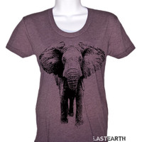 Elephant Charging T Shirt - Women's Elephant Shirt - American Apparel Tshirt - S M L XL