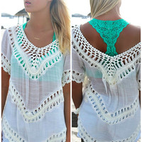 Sandcastle Crochet Detail Ivory Top