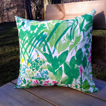Marimekko Pillow cover, pillow case, pillow sham, throw pillow cover, cushion cover, envelope pillow, Marimekko fabric, summer pillow