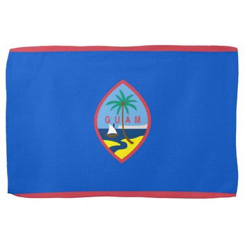 Kitchen towel with Flag of Guam, U.S.A.