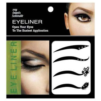 CREYHY3 New 4 Pair Black Eyes Sticker Cat Style Eyeliner Sexy Temporary Double Eyeshadow Eyelid Tape Tattoo Eye Makeup Tools Cosmetics