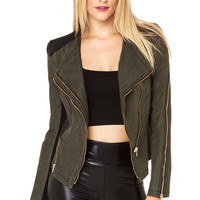Military Jacket in Olive