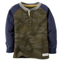 Carter's Colorblock Henley - Toddler Boy, Size: