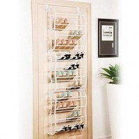 Felji 36-Pair Over The Door Shoe Rack Closet Space Saver Organizer Storage