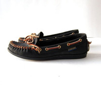 STOREWIDE SALE...Vintage Leather Boat Shoes Loafers / Deck Shoes / Moccasins