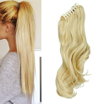 1PC Clip In Hair Extensions Claw  Tip Up Wrap Around Ponytail Hairpiece Long  Hair Extensions(US Store)