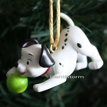 Licensed cool NEW CUSTOM Disney 101 DALMATIANS LUCKY DOG W/ GREEN BALL Christmas Ornament PVC