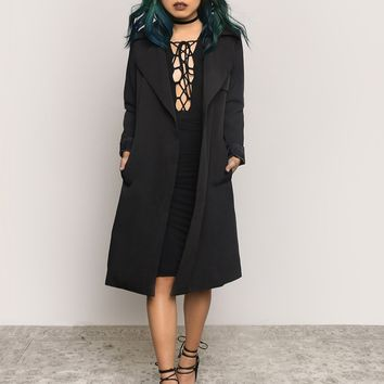 On Top Trench Coat - Black