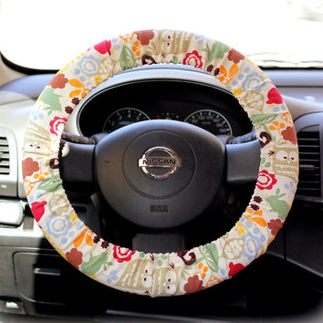 Steering Wheel Cover Bow Wheel Car Accessories Lilly Heated For Girls Interior Aztec Monogram Tribal Camo Cheetah Sterling Chevron Funky Owl
