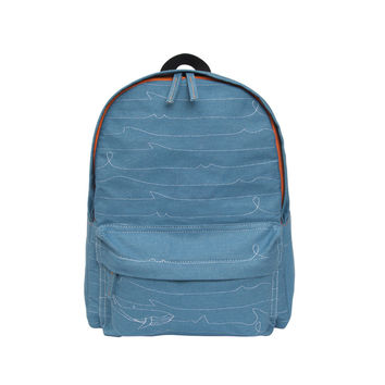 Sea Whale Denim Backpack