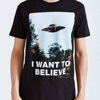 The X-Files I Want To Believe Tee- Black