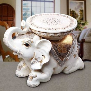 Elephant Style Elegant Ottoman For Home  Furniture