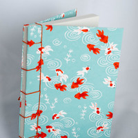 Koi Fish Japanese Stab Journal by luciagphoto on Etsy