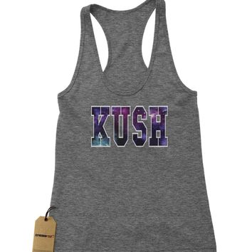 Kush Galaxy Print Racerback Tank Top for Women