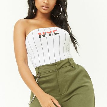Striped LDN Graphic Tube Top