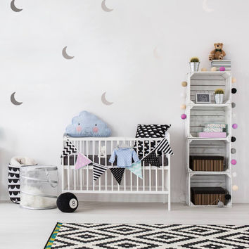 Moon Wall Decals, Wall Stickers, Moon Wall Stickers, Moon Pattern, Kids Wall Decal, Kids Room Decal, Pattern Wall, Moon Decals, Set of 50