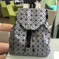 Fashion Women Drawstring Backpack Diamond Lattice Geometry Quilted Ladies Backpack