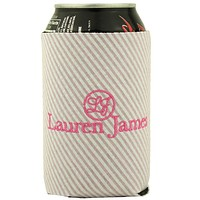 Seersucker Can Holder in Pink by Lauren James - FINAL SALE