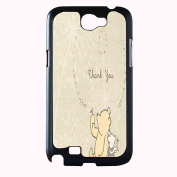 classic winnie the pooh and piglet d1820770-034f-4dd3-8e6a-62046393f156 FOR SAMSUNG GALAXY NOTE 2 **