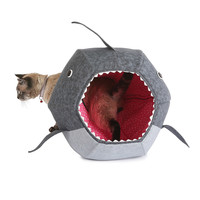 Shark Cat Bed | cat bed, shark decor, handmade