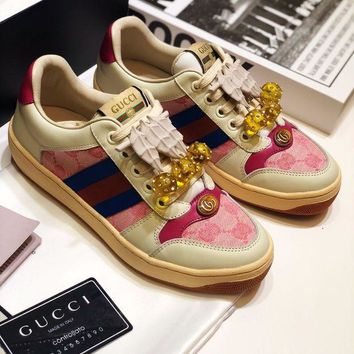 DCCK Gucci Women Casual Shoes Boots fashionable casual leather Women Heels Sandal Shoes