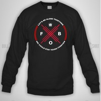 Bull-shirt.com fall out boy fob fob Crewneck Sweatshirt Bull-shirt.com