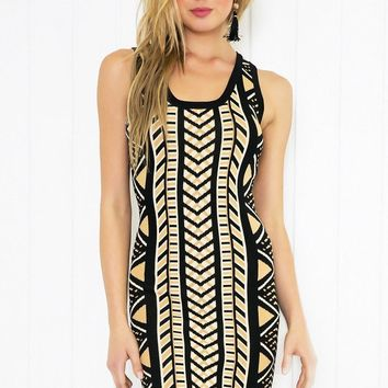 Summer Fashion Women's Fashion Bohemia Print Sleeveless Round-neck One Piece Dress [7767276295]