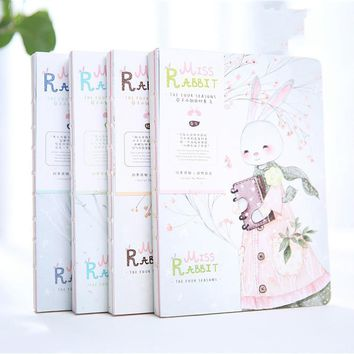 This lovely book fresh nude Miss Rabbit four hand book 2017 notebook notepad. Gift stationery