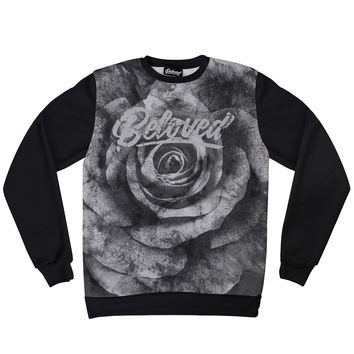 Beloved Premium Black Rose Sweatshirt
