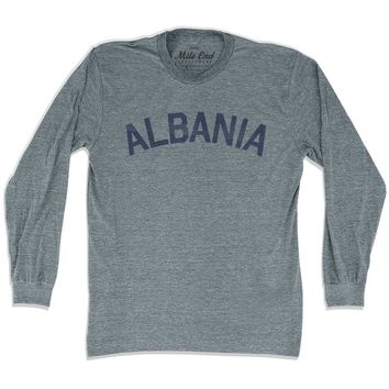 Albania City Vintage Long Sleeve T-shirt