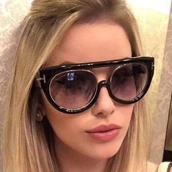 f7c6081615b8f Pop Age 2018 New High quality Oversized Cat Eye Sunglasses Women
