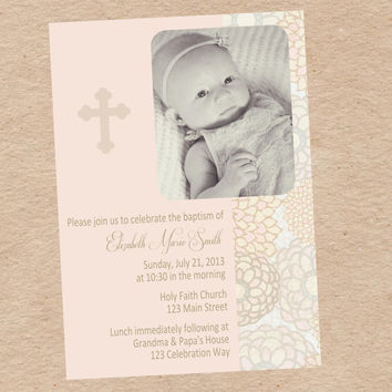 Baptism Announcement Invitation - DIY Printable