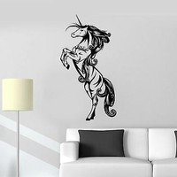 Vinyl Decal Unicorn Myth Girl Children's Room Decoration Wall Stickers Unique Gift (ig2121)