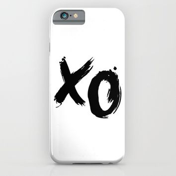 XO HUGS AND KISSES TYPOGRAPHY iPhone & iPod Case by deificus Art