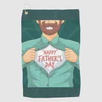 Happy Father's Day Golf Towel