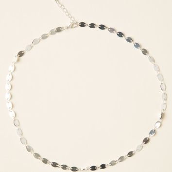 SILVER PLATE CHOKER NECKLACE
