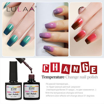 2016 NEW 18 Colors Fashion Women Free Shipping Nail  Polish Temperature Change Nail Color UV Gel for Nail Soak Off Gel Polish