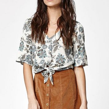 Kendall and Kylie Tie Front Button-Down Shirt at PacSun.com