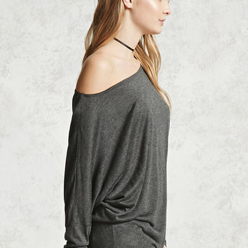 Off-the-Shoulder Dolman Shirt